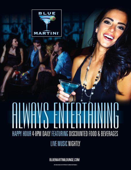 Blue Martini flyer